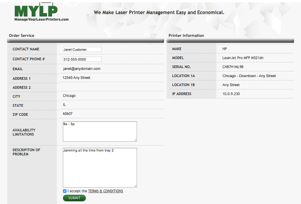 manage your laser printers